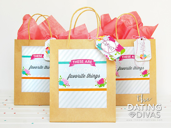 Favorite Things Party Gift Bag Tags