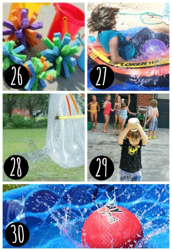 Backyard water games for kids