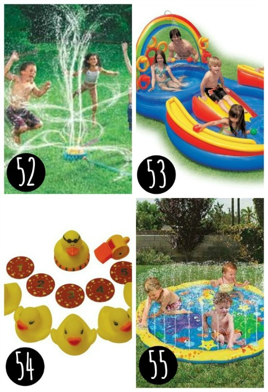 Must have summertime water toys.