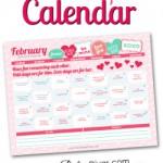 Free Printable February 2015 Love Calendar