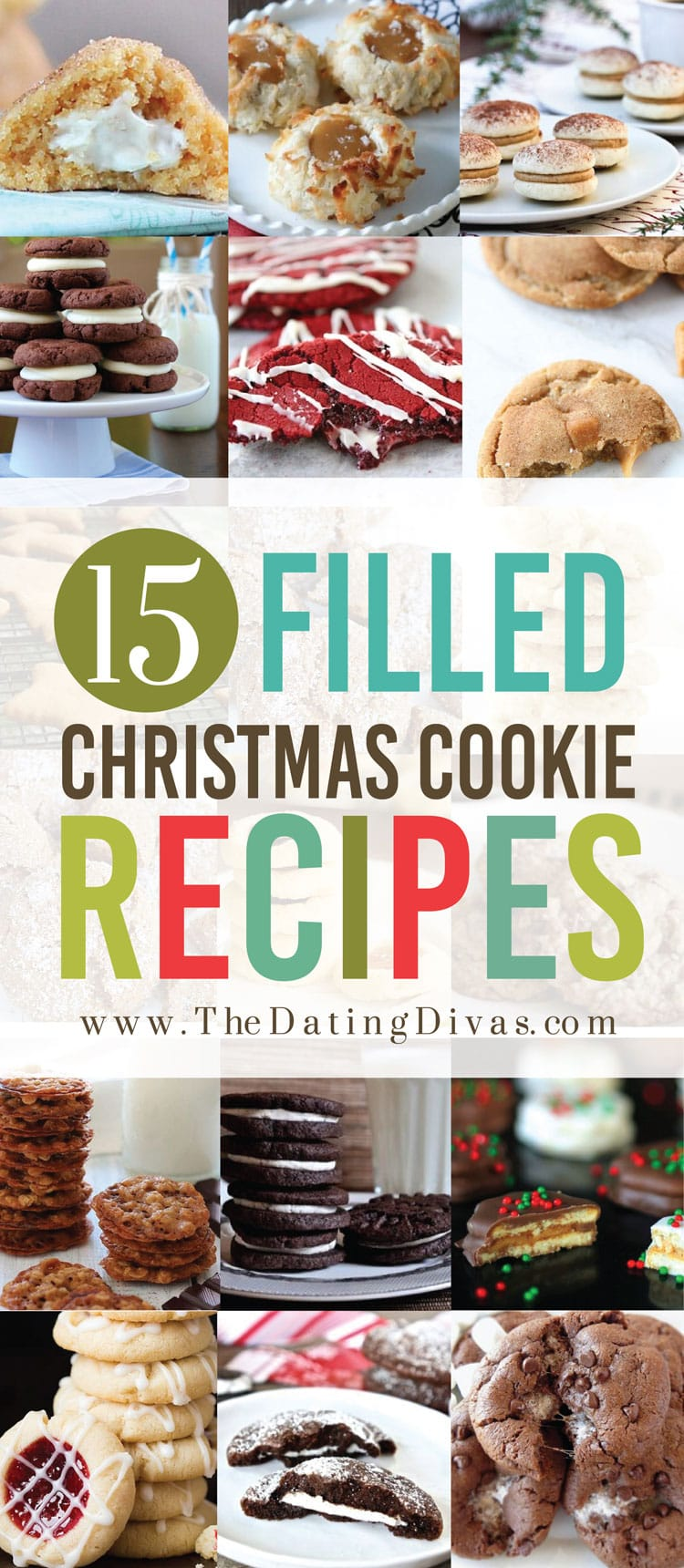 Christmas Cookies that are filled or stuffed with delicious flavors!