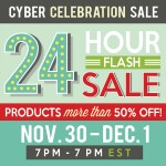 Get the perfect gift at a LOW price at the 24 Hour Flash Sale!