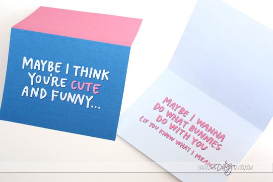 Flirty Easter Card for Husband