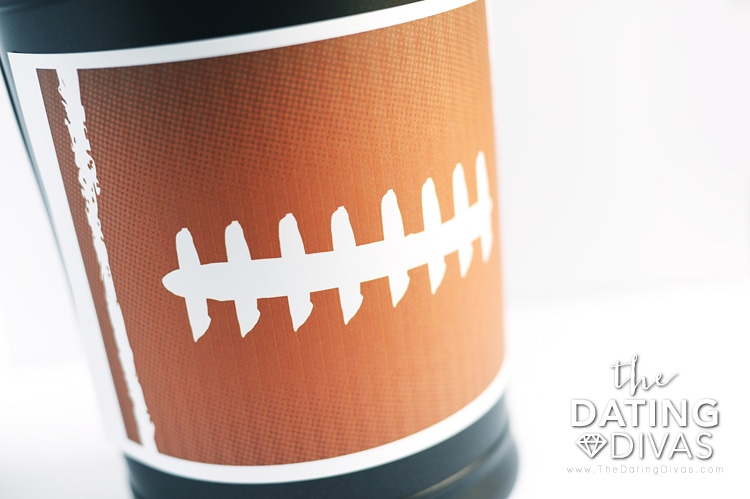Free Printable Football Can Wrapper