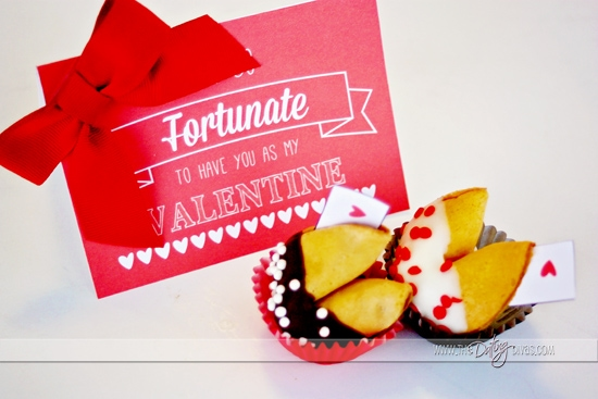 Free printable Fortune Cookie Valentine Card