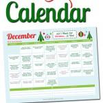 Free Printable December LOVE Calendar