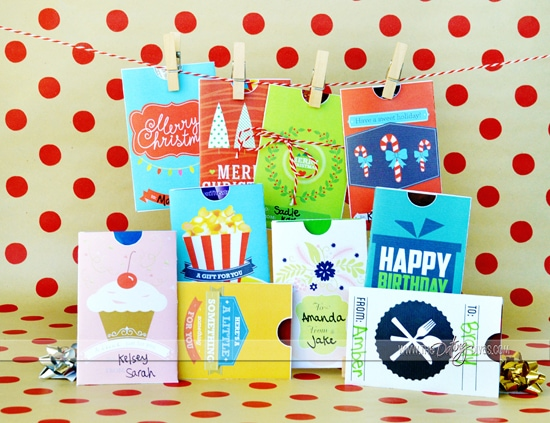 picture about Printable Gift Card Holders named 10 Printable Present Card Holders