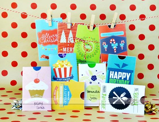 Printable Gift Card Envelopes
