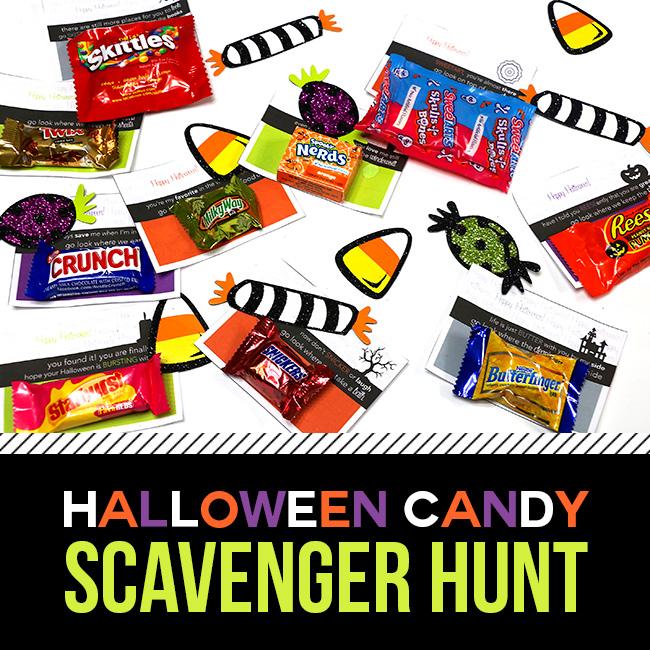 Free Printable- Halloween Candy Treasure Hunt