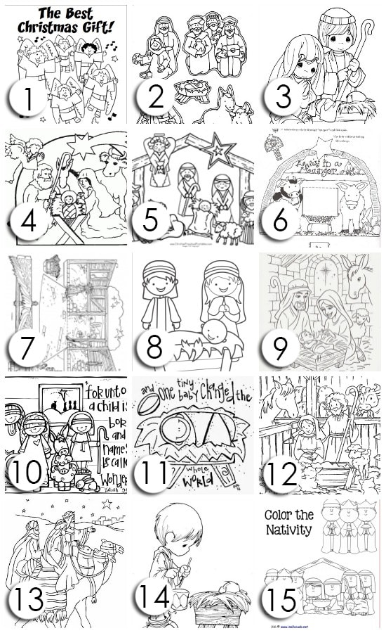 Nativity Character Cut Out Coloring Pages also Nativity Scene Coloring ...