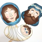 Free Printable Nativity Masks to Act Out the Nativity Story as a Family