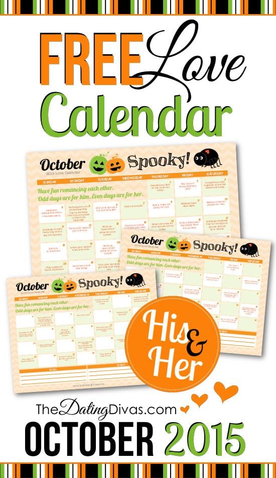 Free October Love Calendar 2015
