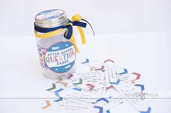 Free Printable After School Question Cards and Jar