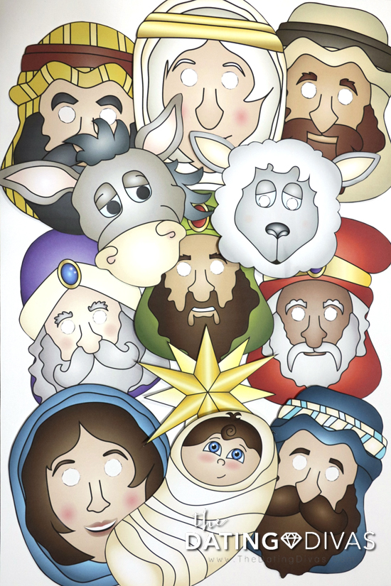 Free Printable Christmas Nativity Masks