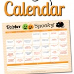 Free Printable October LOVE Calendar