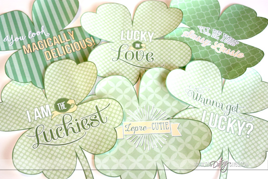 Free Printable Shamrock Love Notes