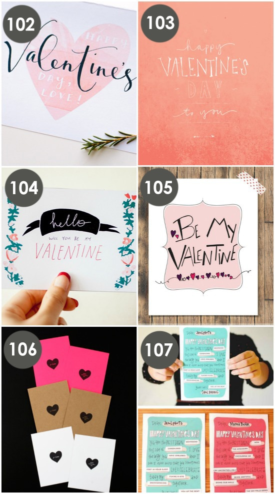 Free Printable Valentines ideas