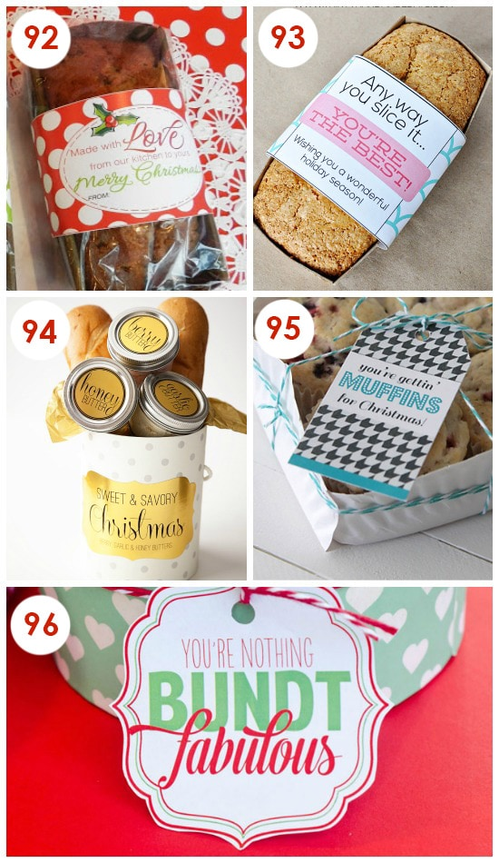 Free Printables For Your Holiday Goodies