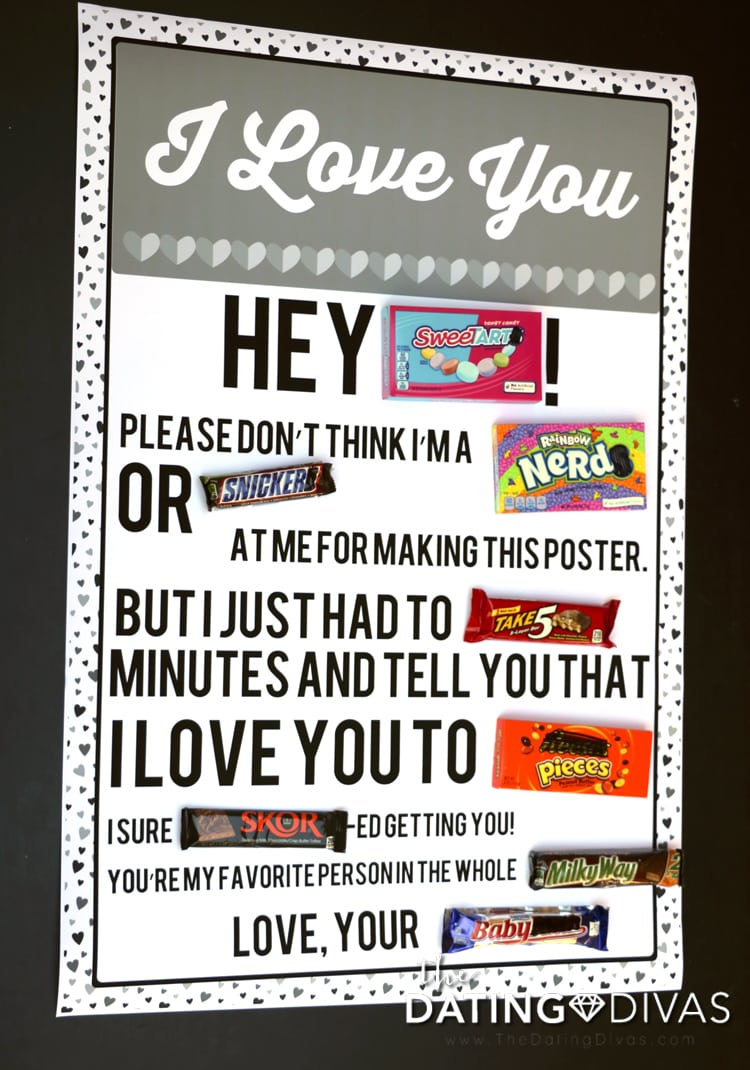 Finished I love you candy poster