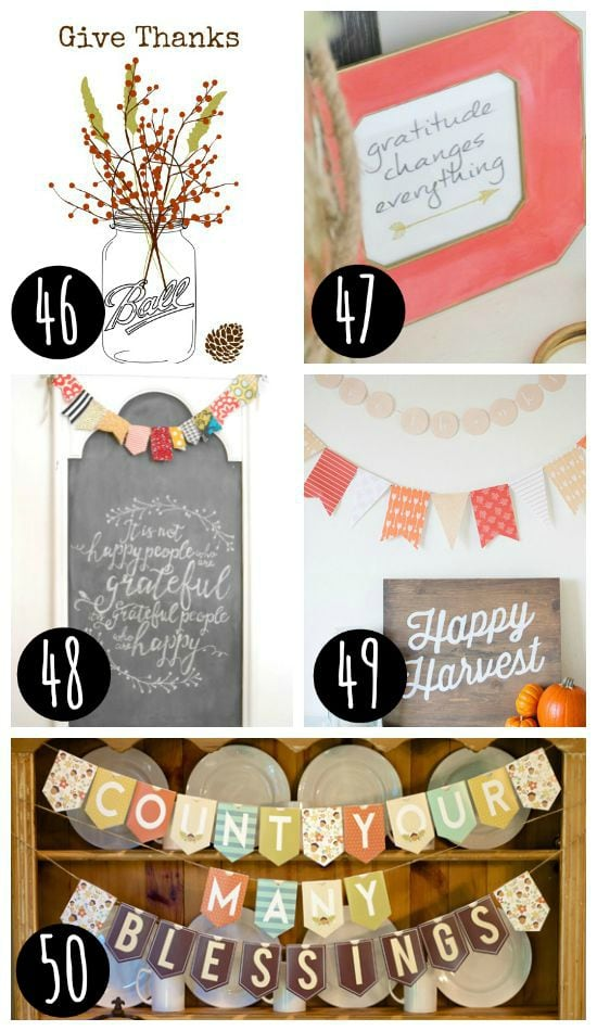 Thankful, Blessed Printables