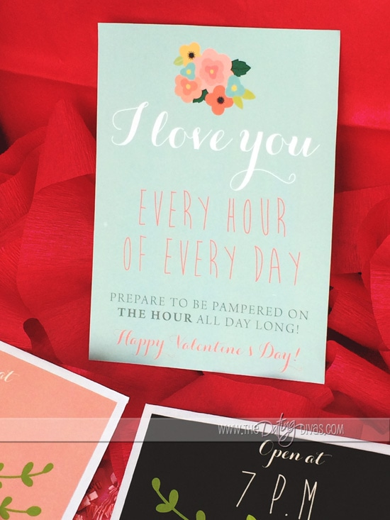 Free Valentine's Day Gift Printables from www.thedatingdivas.com! These Valentine's Day printables are so awesome!