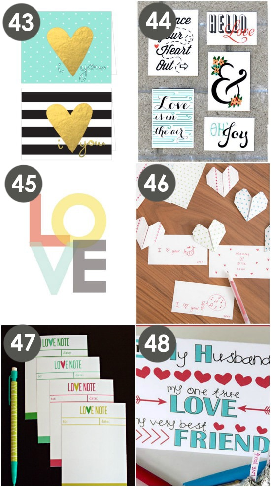 Freebie Love Notes