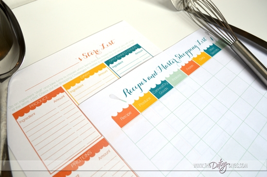 Freezer Meal Planning Shopping Lists