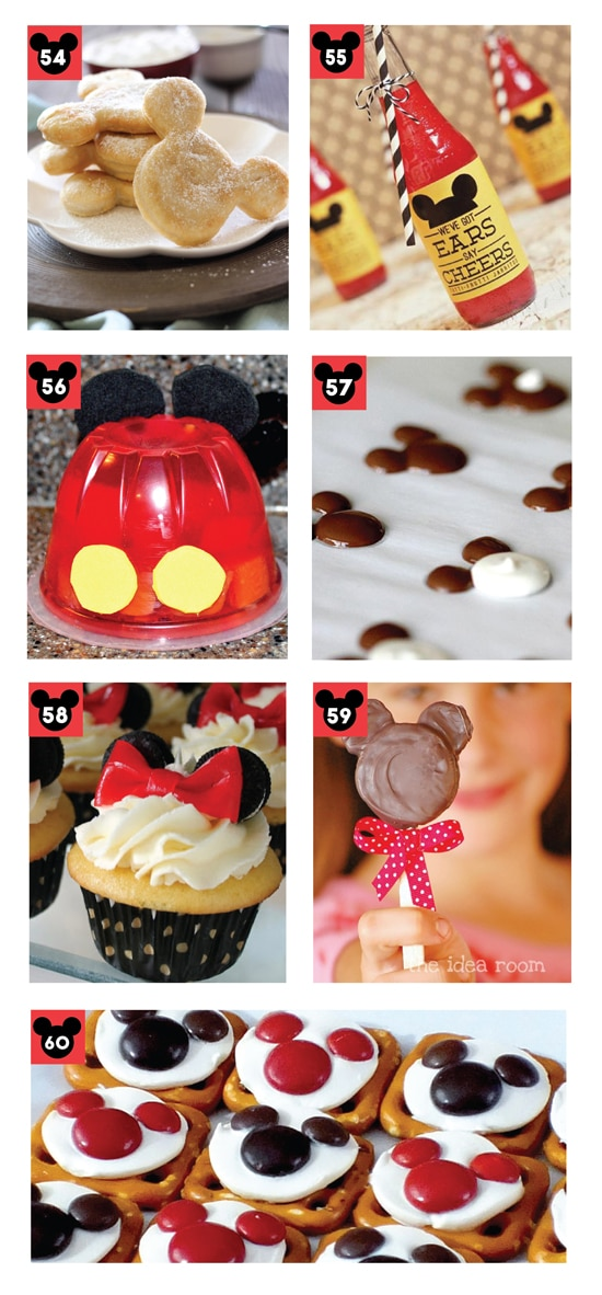 Fun Disney Mickey and Minnie Party Foods
