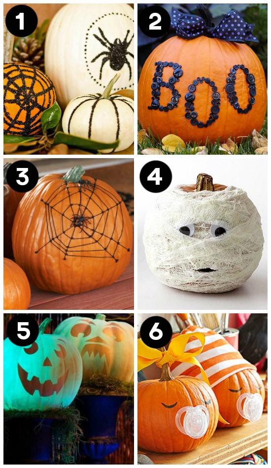 Fun Pumpkin Ideas- No Carving Required