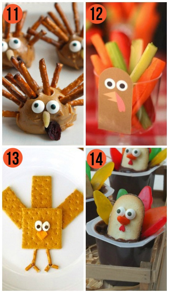 Fun Thanksgiving Snacks and Cute Turkey Treats