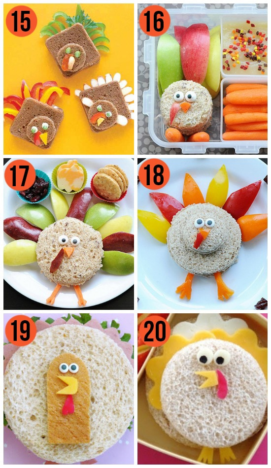 Fun Thanksgiving Turkey Sandwiches