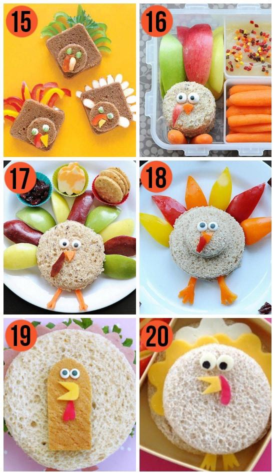 Fun Thanksgiving Turkey Sandwiches