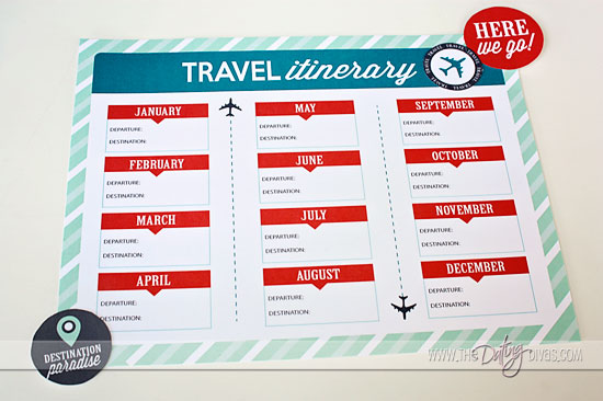 itinerary template pages