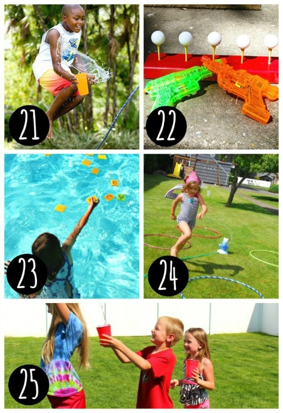 Play outside all summer long with these fun water games.