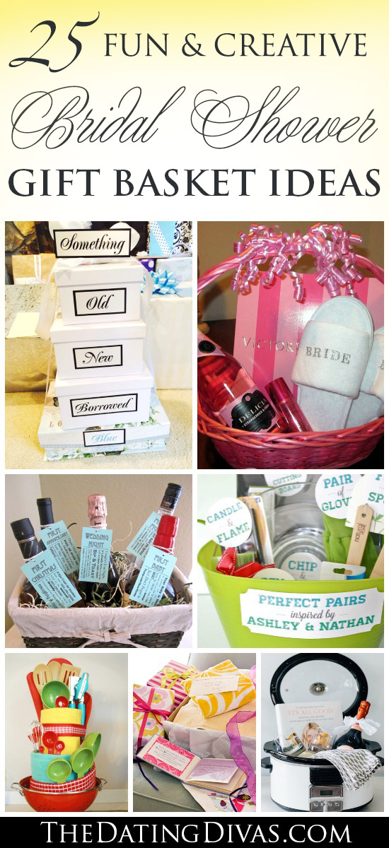 25 Fun & Creative Bridal Shower GIFT BASKET Ideas