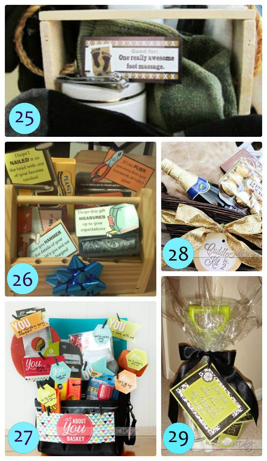 christmas gift baskets - 101 DIY Christmas Gifts For Him - The Dating Divas
