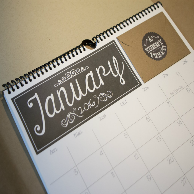 Gift Cals Calendar Dates