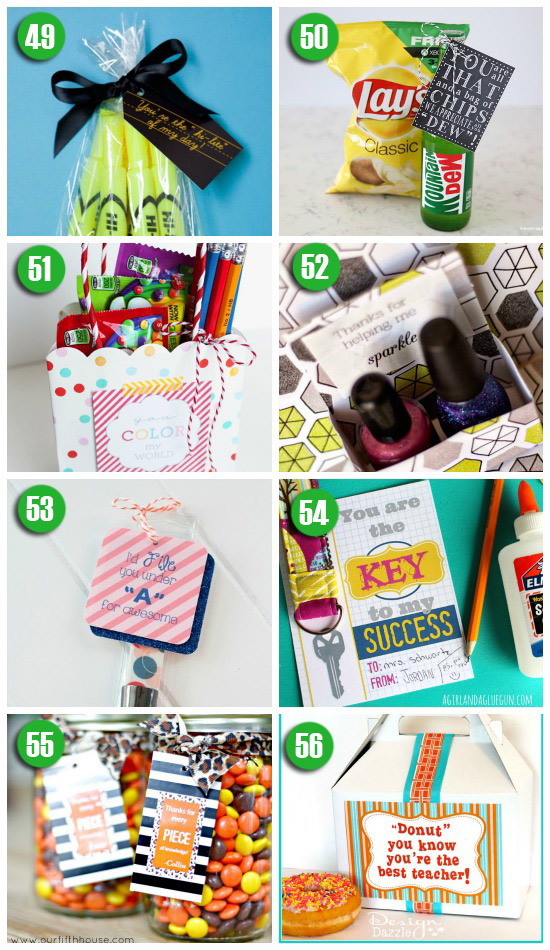 Teacher Gift Ideas for Teacher Appreciation Week