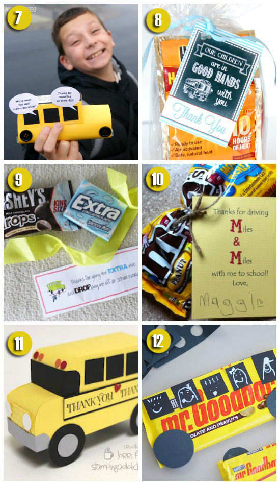 101 easy creative teacher gift ideas gift ideas for the bus driver negle Image collections