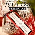 Lisa - craft tutorial, his and her's stemware - pinterest pic