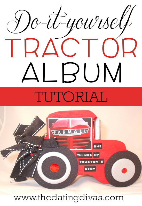 Corie - tractor album tutorial - pinterest pic