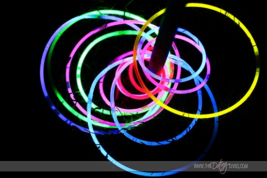 Glow in the dark ring toss!