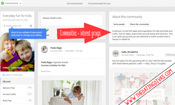 Google Plus community screenshot