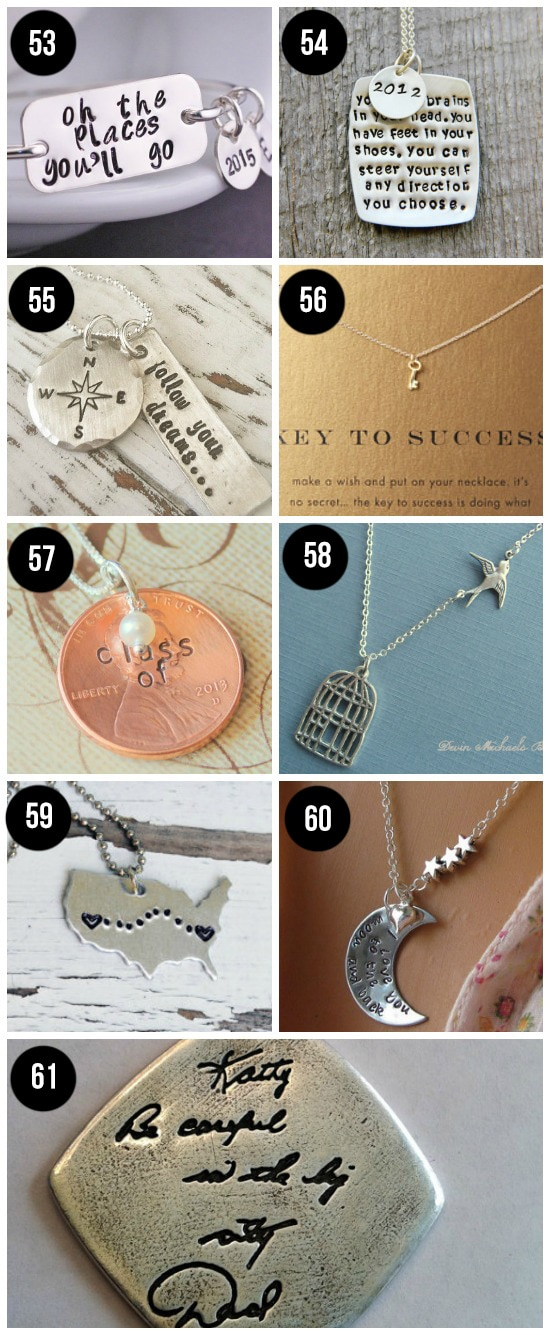 Graduation Necklaces- such a sweet, meaningful grad gift