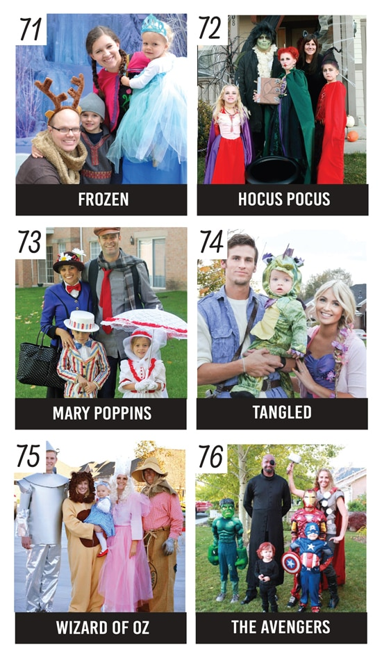 Great Family Halloween Costumes Inspired by Movies