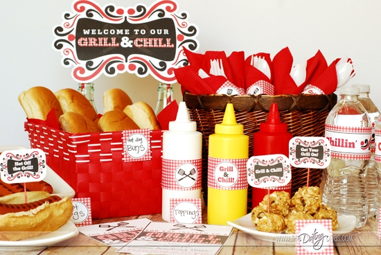 Grill & Chill BBQ Group Date Night Printables