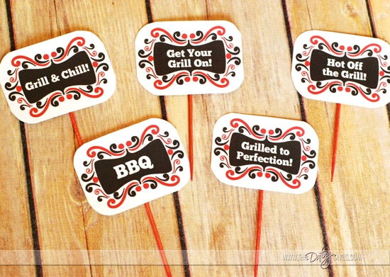 Grill & Chill BBQ Group Date Night Treat Toppers
