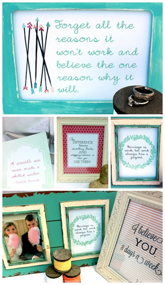 Grow Stronger Through Trials: Framed Printable Reminders