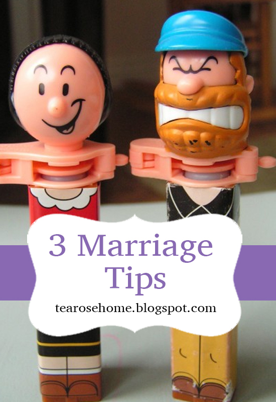 Tara - 3 marriage tips, tea rose home - pinterest pic