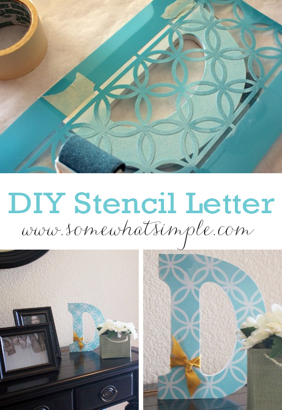 Corie - Guest Blogger Somewhat Simple - Monogrammed Letter - Pinterest Pic